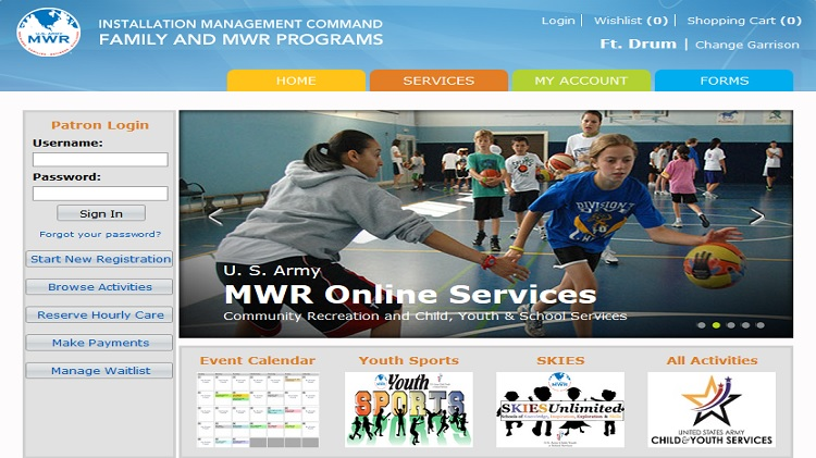 Fort Drum Website >> Us Army Mwr Fort Drum Cys Webtrac Shortcut To Link