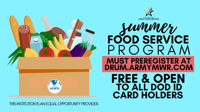 Summer Food Service Program 2020